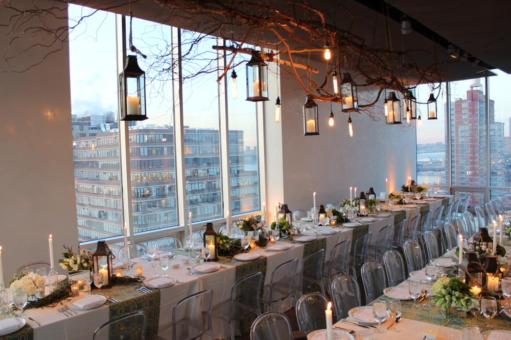 Glass Houses Manhattan NY - custom dinner for 60
