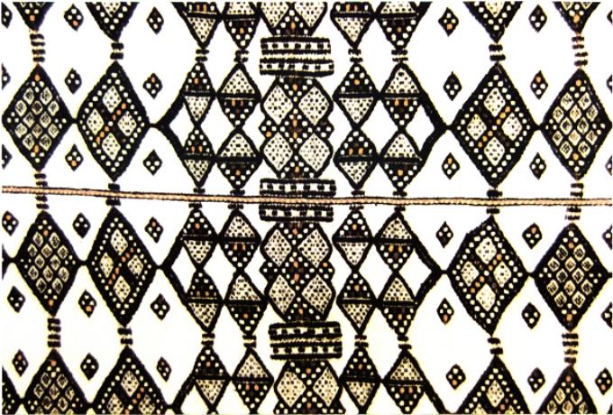Padrão fractal em um tecido africano do Zâmbia.