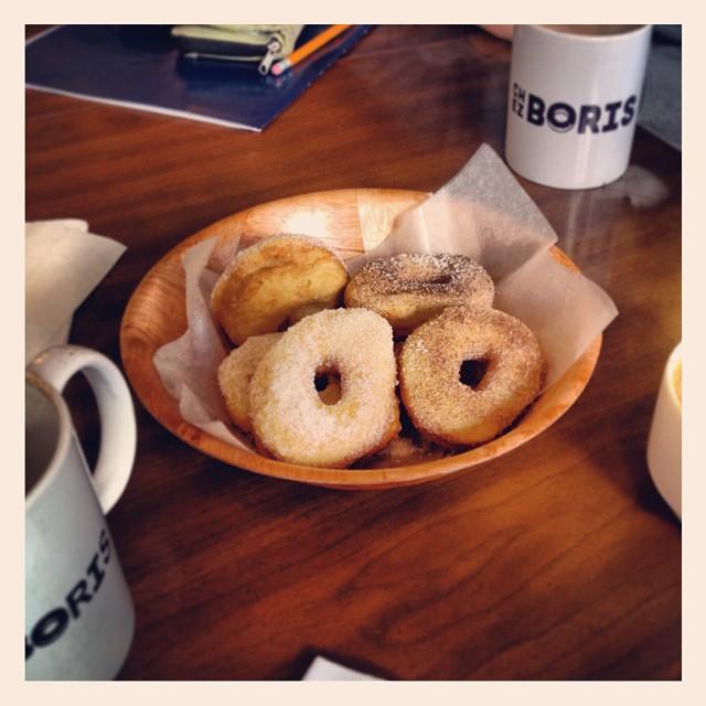 first stop; doughnuts at Chez Boriz