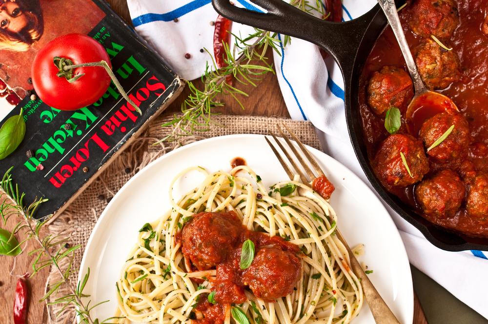 'Spaghetti And Lamb Meatballs'