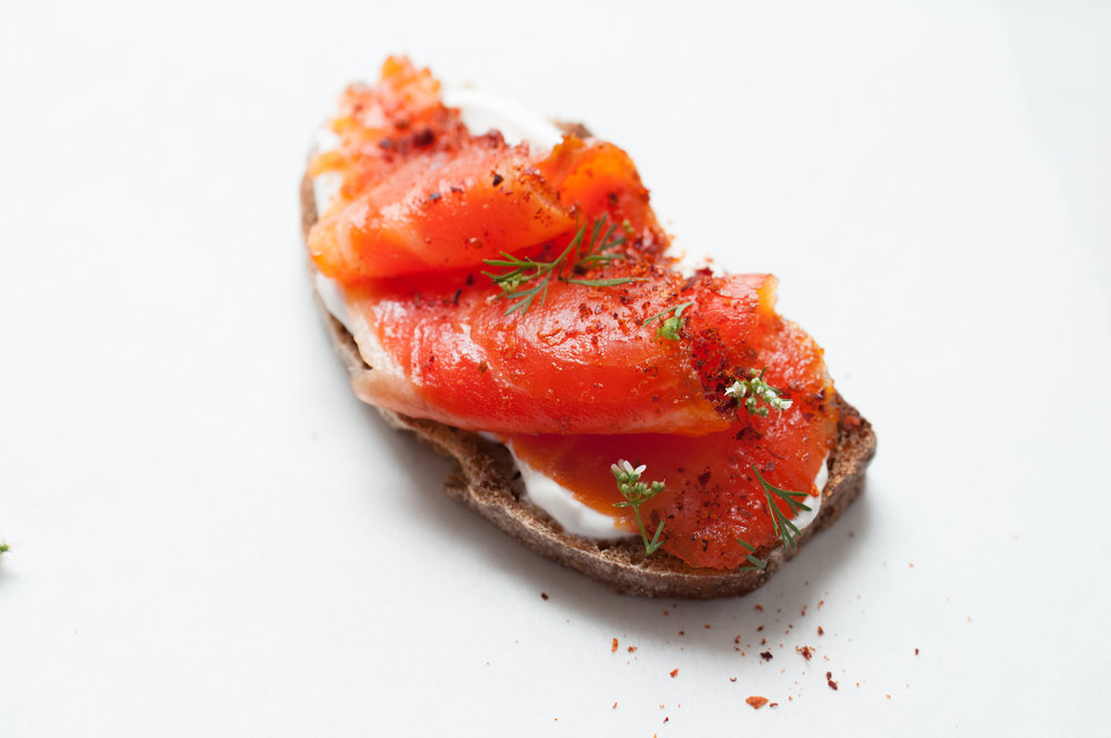 Gravlax with Rosey Harissa