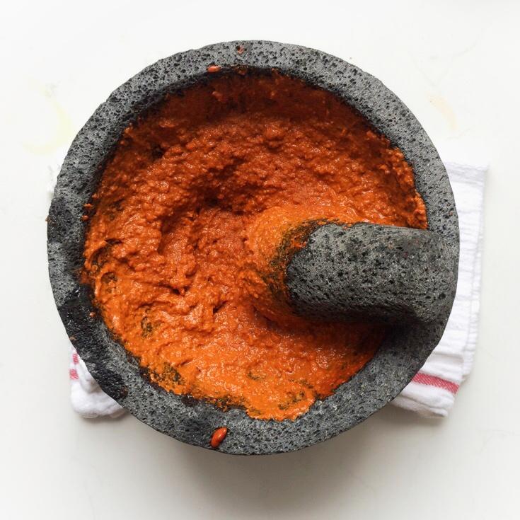 Harissa Romesco Sauce