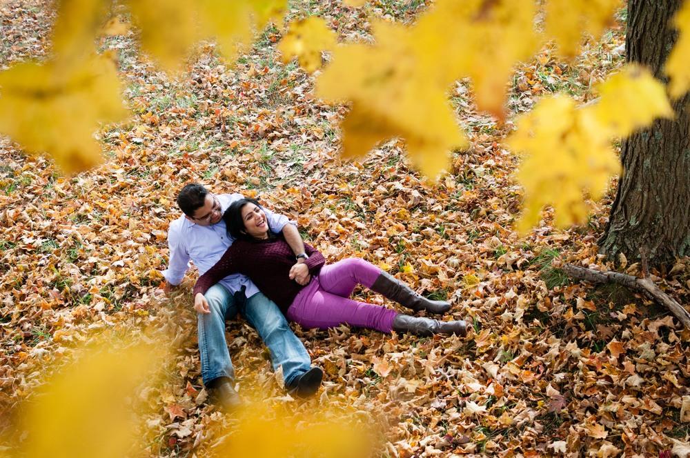 Beautiful fall foliage around 7 lakes drive, NY.