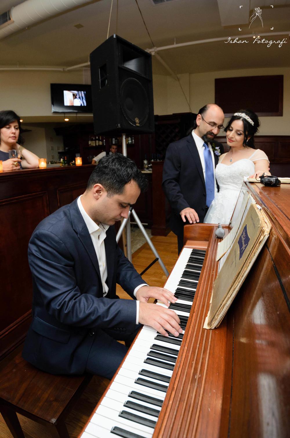 Piano and violin all night long.