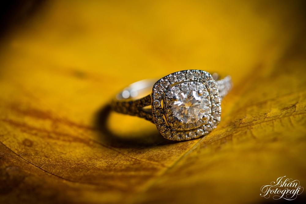 Dhara's beautiful engagement ring.