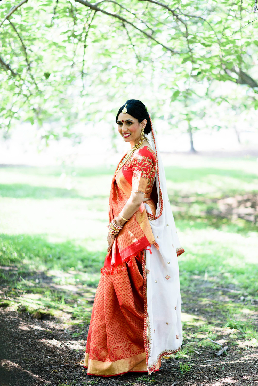 South indian kanjivaram wedding silk saree was chosen by the bride on her wedding day