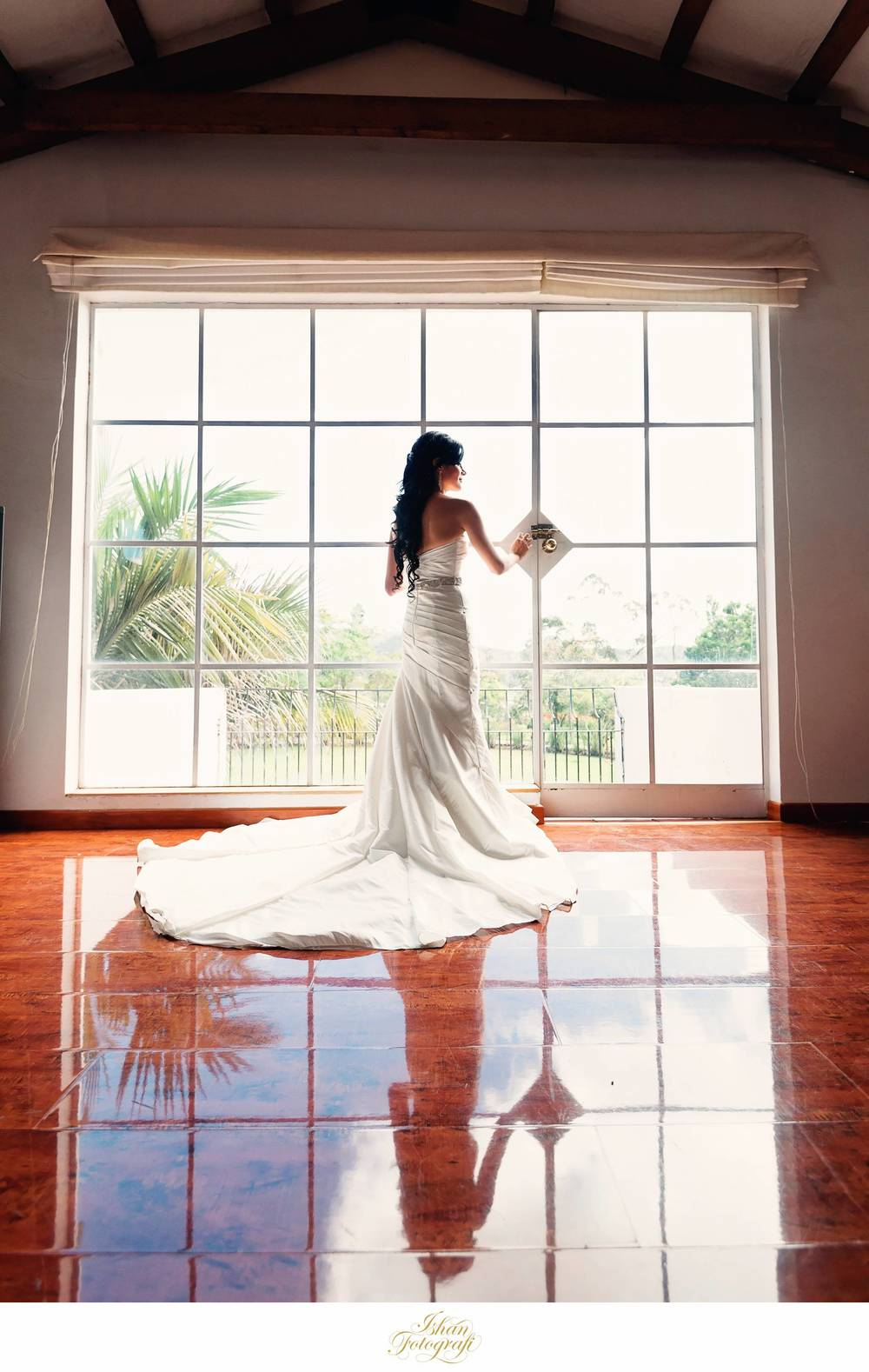 One of our favorite shots from the getting ready part of the day. Julie looked very gracious in her bridal gown.