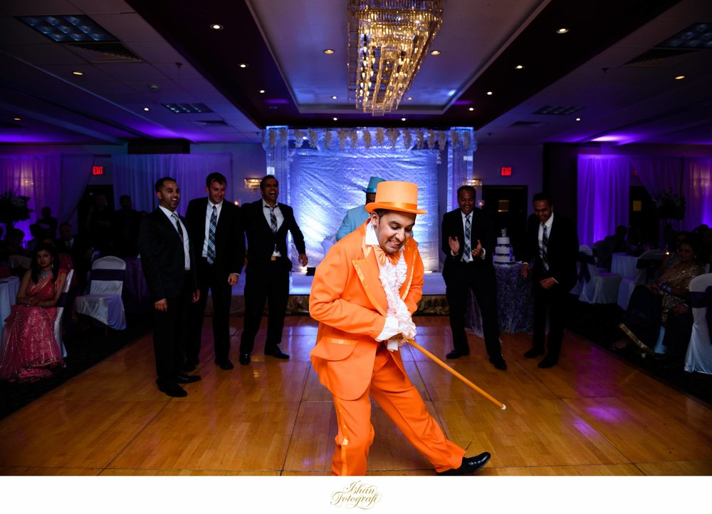 Indian wedding reception at Sheraton Mahwah, New Jersey.