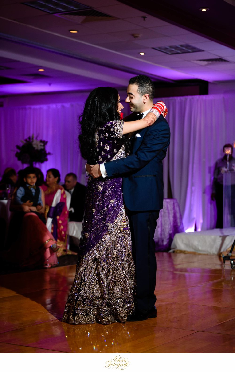 Bride and Groom first dance at Sheraton Parsippany, New Jersey.
