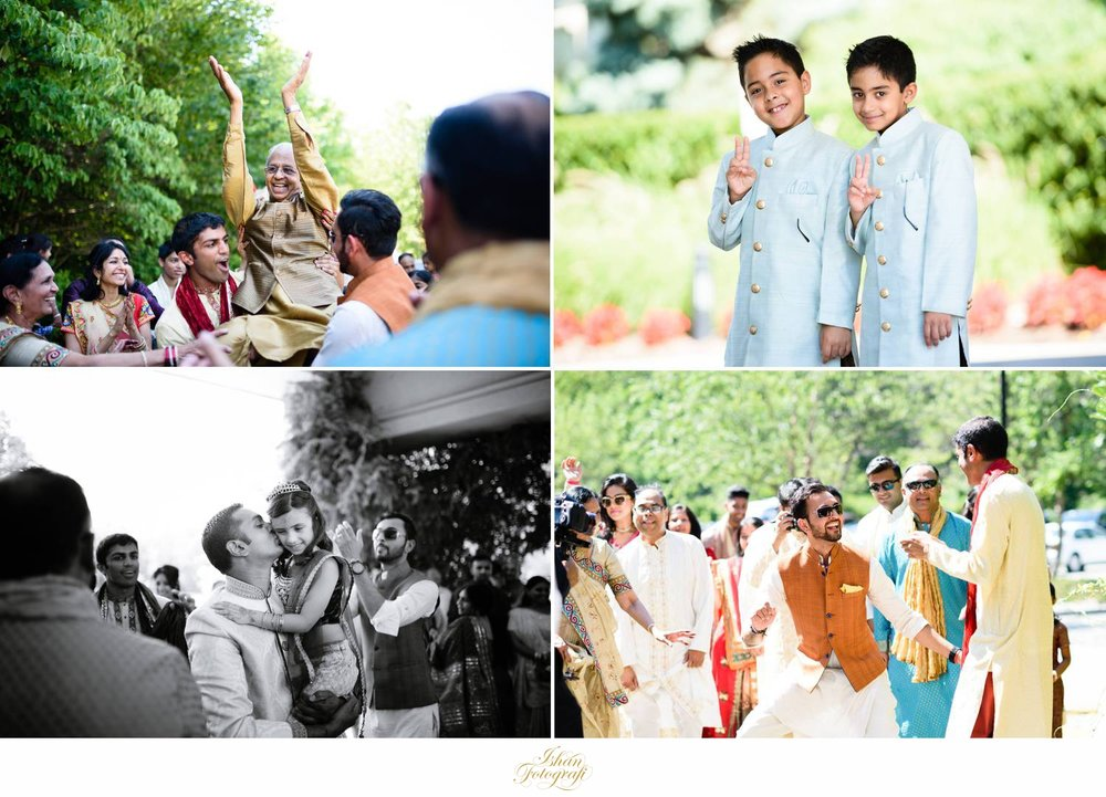 Energetic and fun baraat. They also had a traditional drum player (dhol) for the baraat and the wedding ceremony to follow