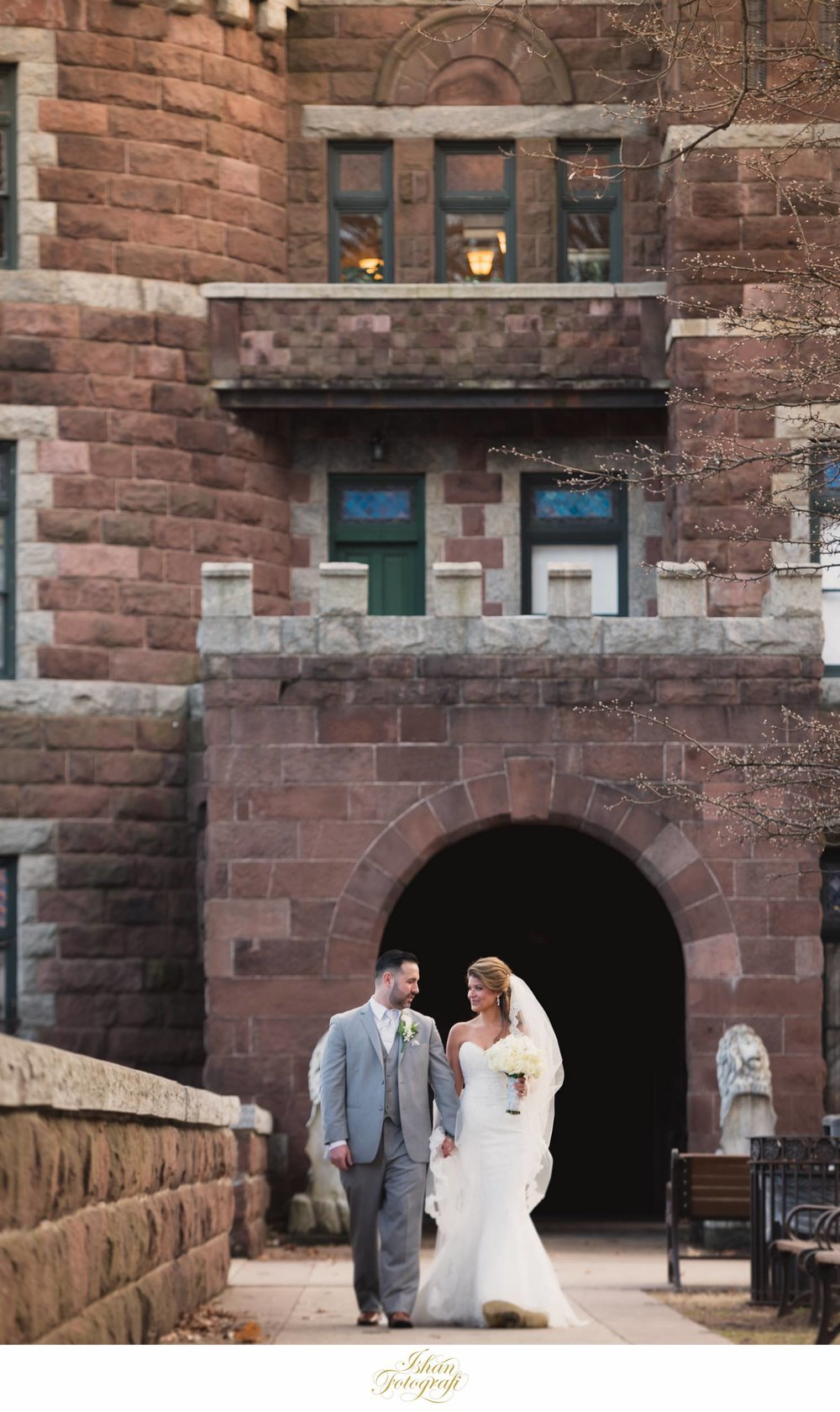Lambert castle  is one of the many popular locations for wedding photography in North New Jersey. The castle has a lot of character and texture which works great for wedding portraits. It is also only a few miles away from  The Bethwood  which was the wedding venue for the reception.
