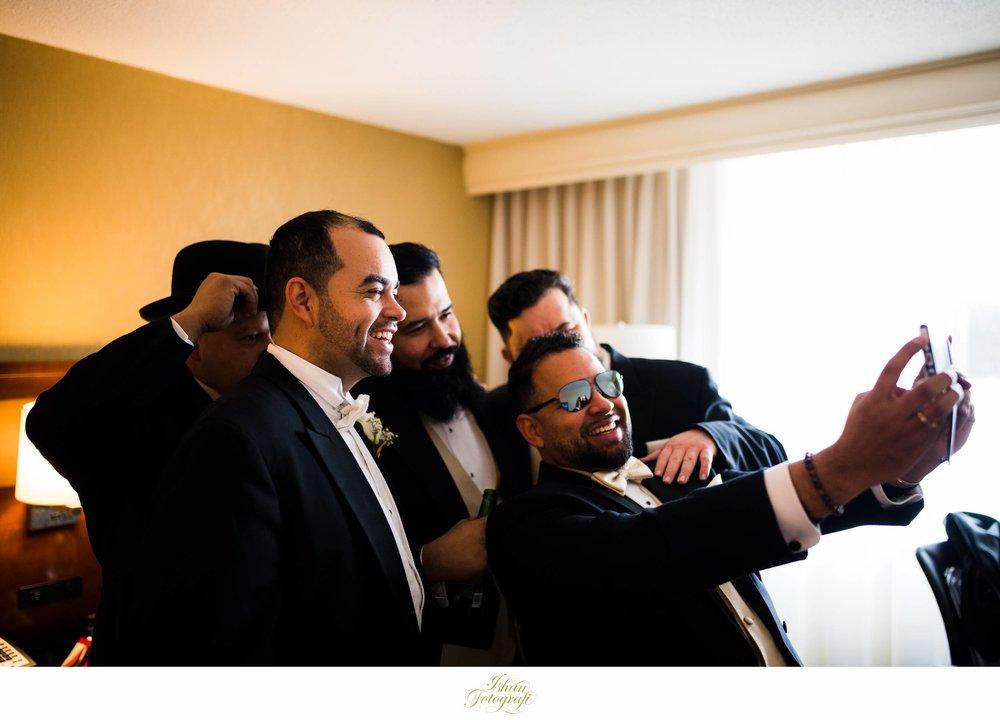 groom-getting-ready-hanover-marriott