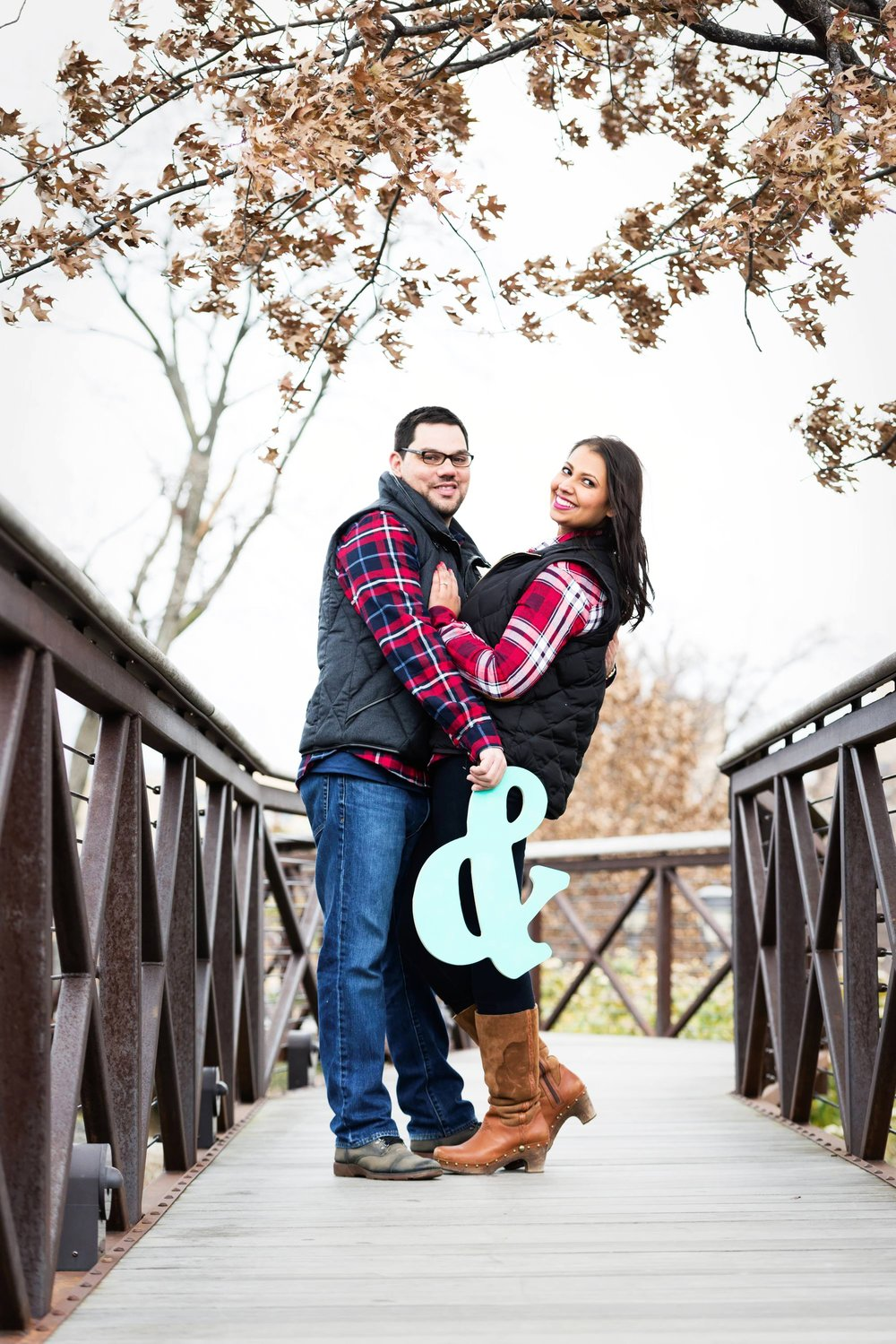 Engagement photographs can be used to make customized save the date cards by adding a personal message to it. Bring a few props to the shoot can be a good idea.