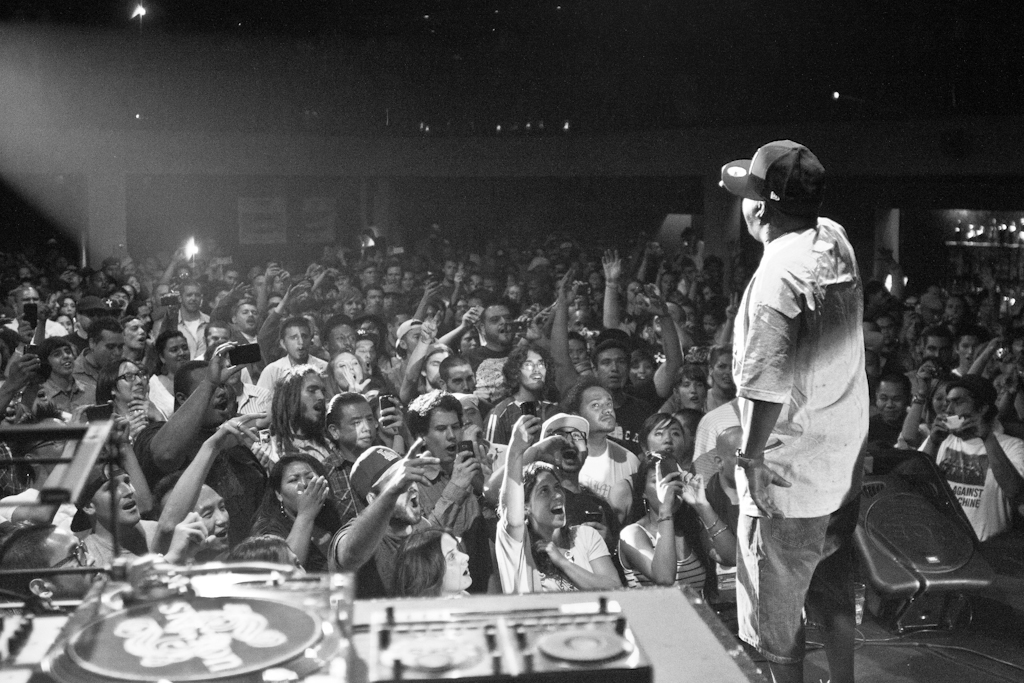 Phife Dawg at the Beats Rhymes and Life Official Release Party. Standing on stage was surreal for me, I took so many shots this night, and tried not to forget I was there working.