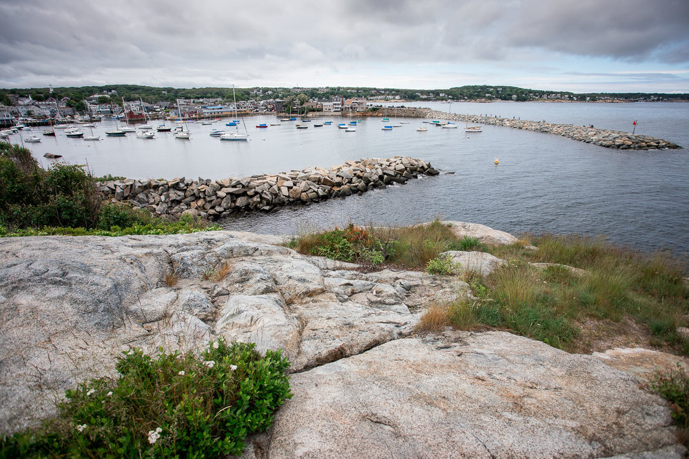 Rockport, MA as seen from the highest point in the Headlands.