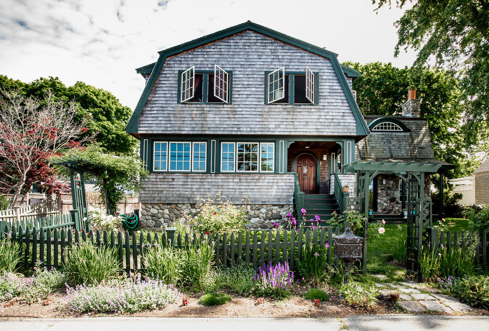 One of the houses seen in Rockport, MA.
