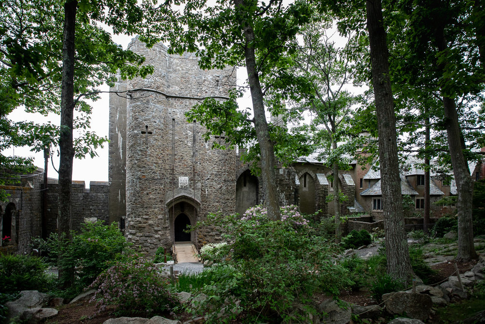 View of the Hammond Castle from the front garden.