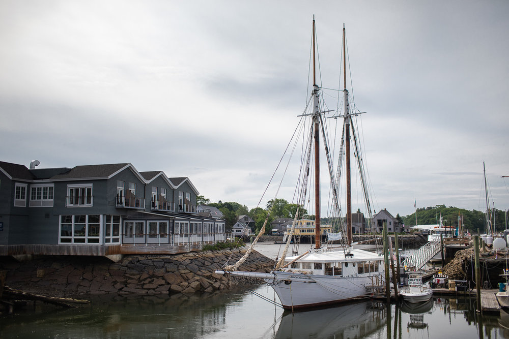 Harbor views in Kennebunkport, ME.
