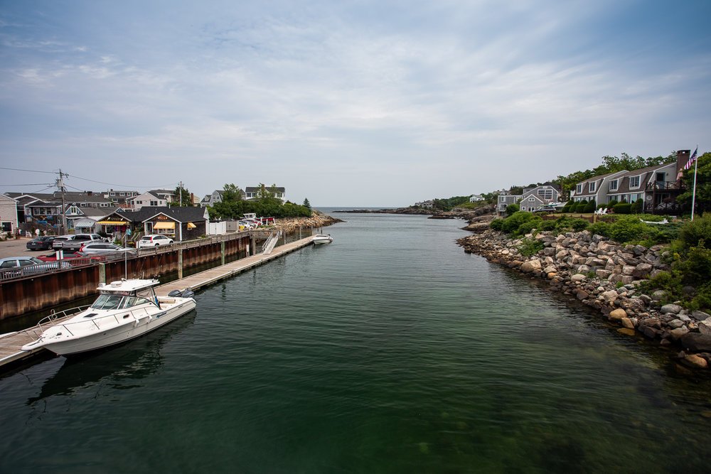 View from Perkins Cove drawbridge toward Perkins Cove/Atlantic Ocean (Southeast)