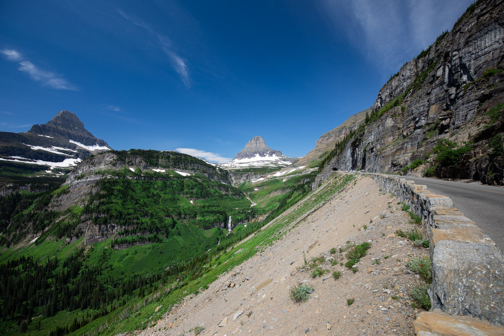 Tunnel view of Glacier National Park.