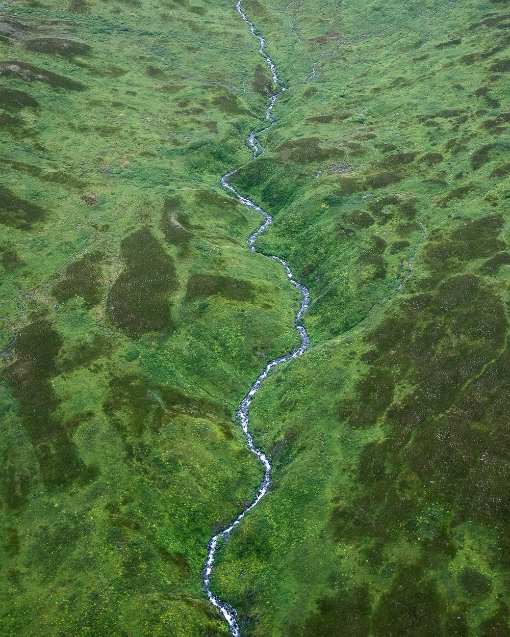 Glacial stream in the highlands.