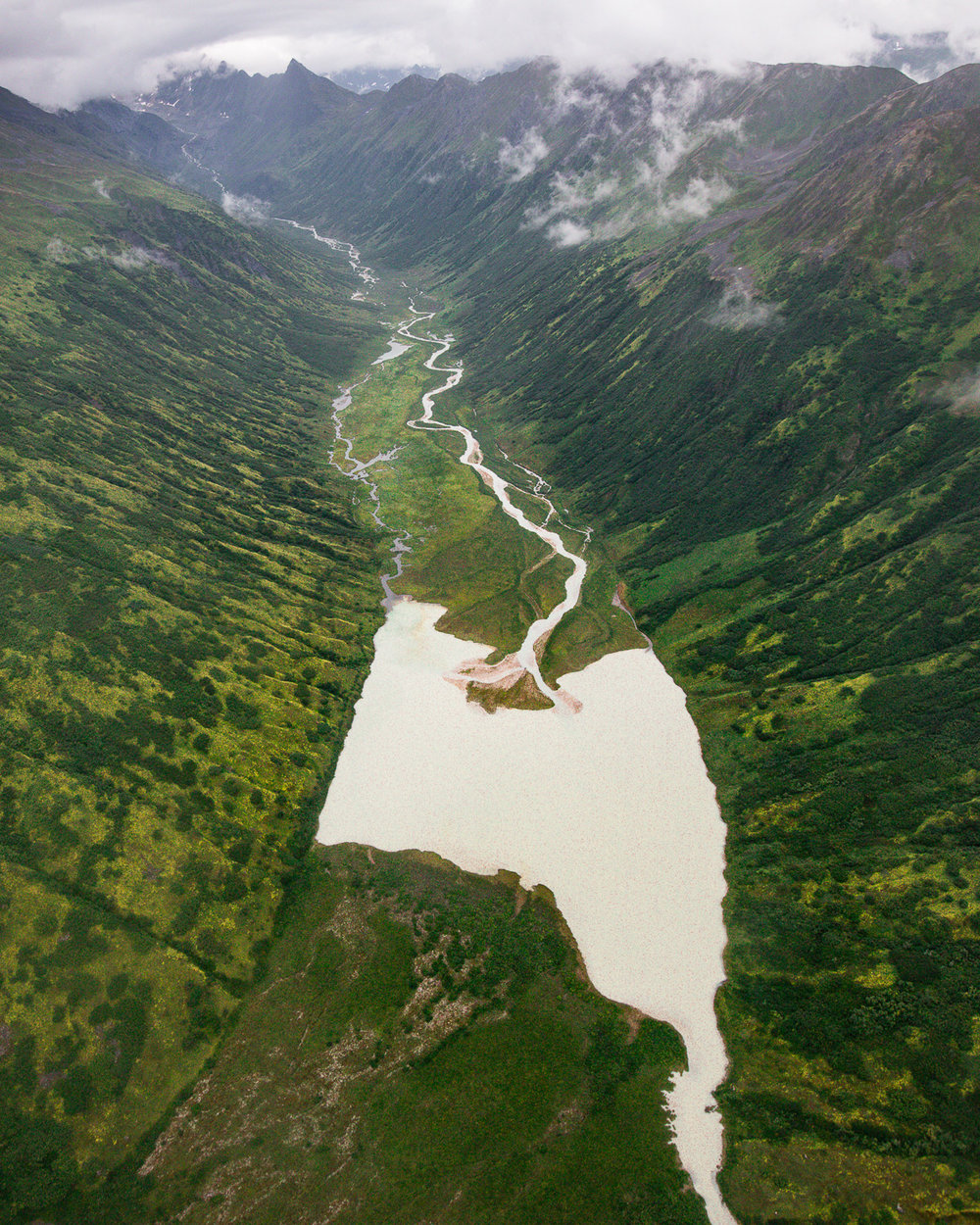 Glacial rivers from the nearby Alaska Range are the source for this silt-rich lake.  Also posted on Instagram .