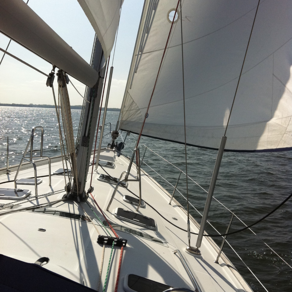 The sun came out, the wnd came up, and we sailed into Annapolis.