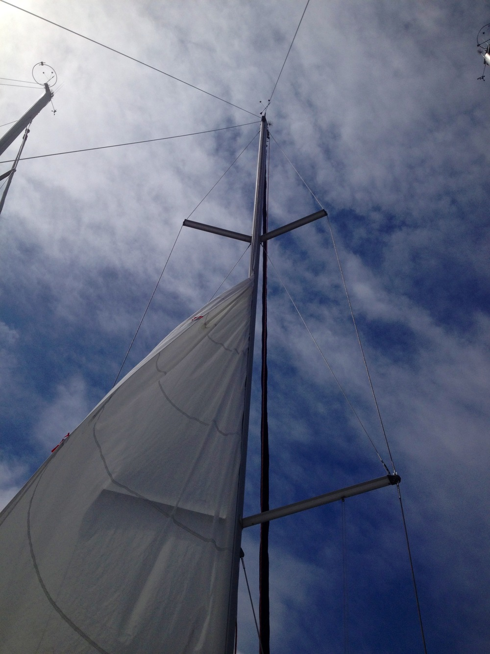 Main sail on a very bad day, at the dock today.