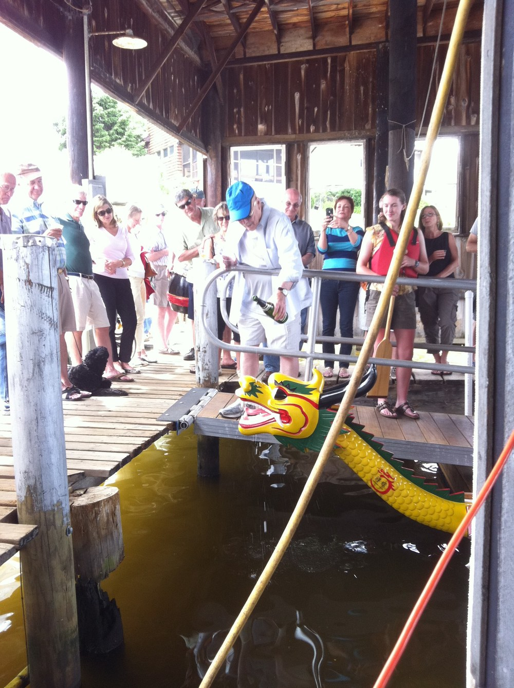 Once in a while boats lend themselves to worthy causes like the Annapolis Dragonboat Cluband you go for the christening. 5/20/12