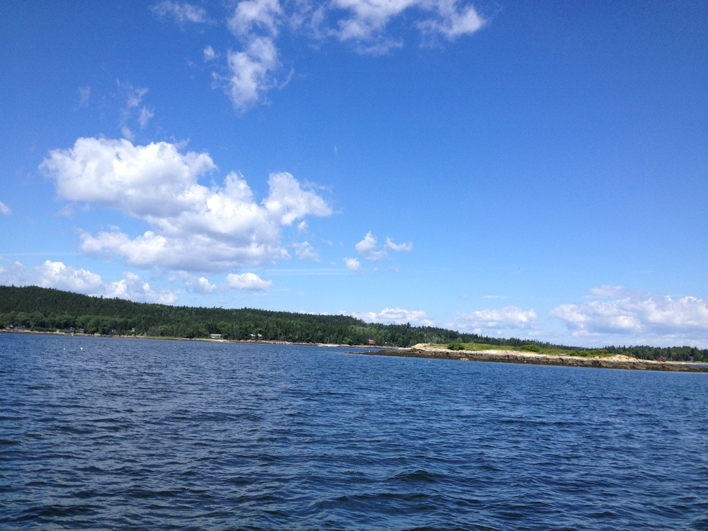 This is what I was waiting for: perfect. With Buck Island in the foreground and Blake Point in the background.