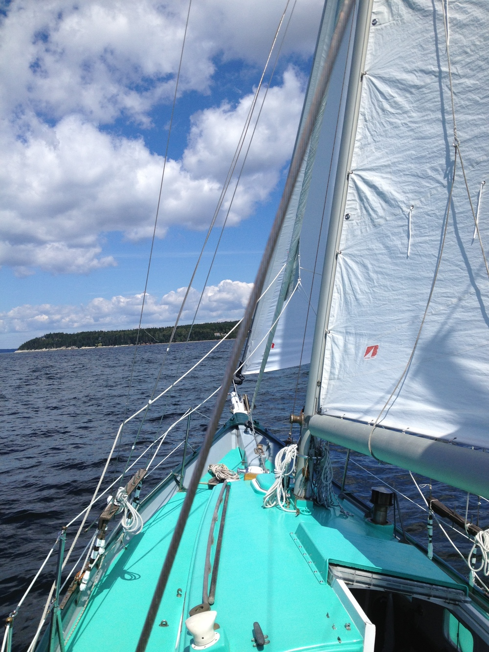 And we're finally under sail!