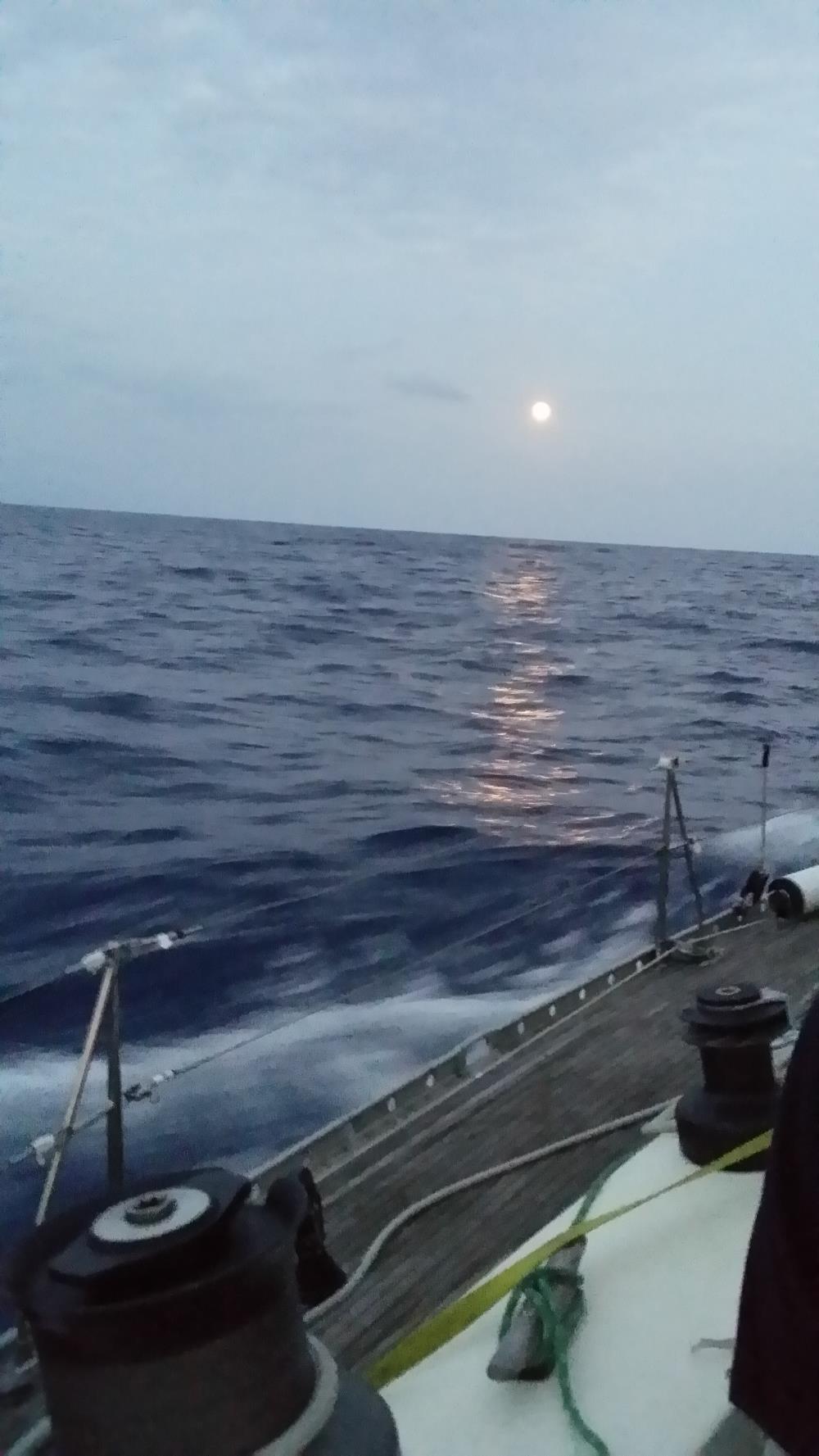 10/18 - moon rise under motor sail