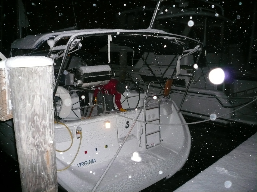 December 2007, only one month after I purchased CALIX. She didn't even have her name yet or the hailing port.