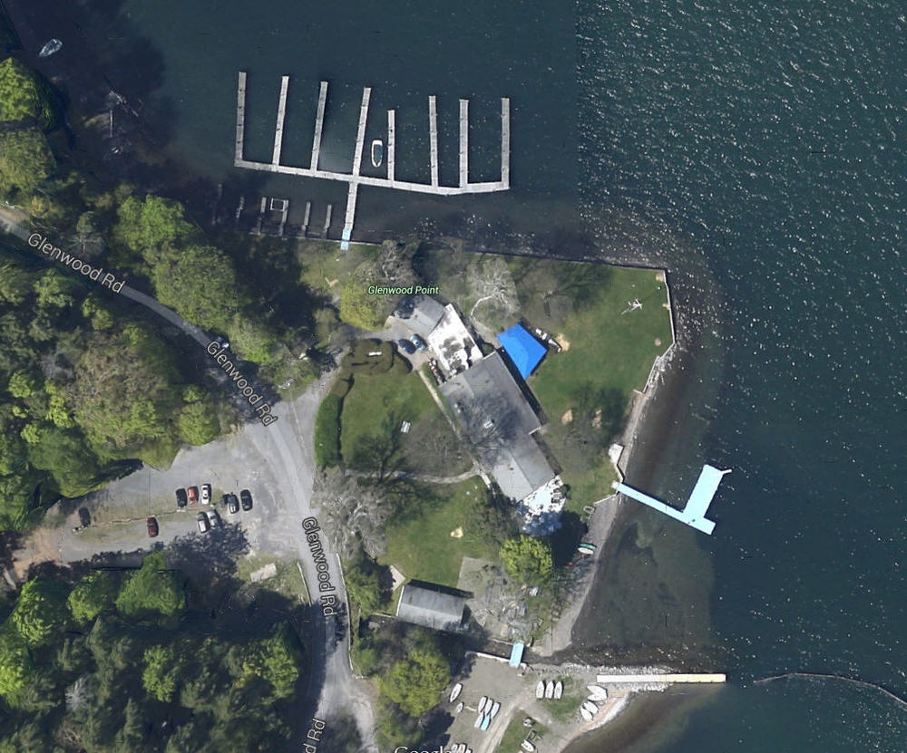 Ithaca Yacht Club as it looks today via Google Maps.