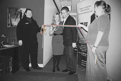 H4M Ribbon Cutting 1- Anna Powell, Tammy Shaklee, Jimmy Flannigan, and Amy Cook.jpg