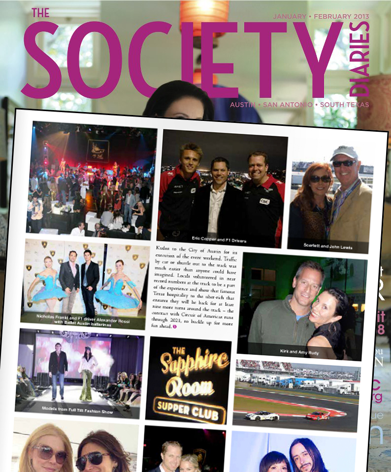 My Yacht Group in The Society Diaries, January/February 2013