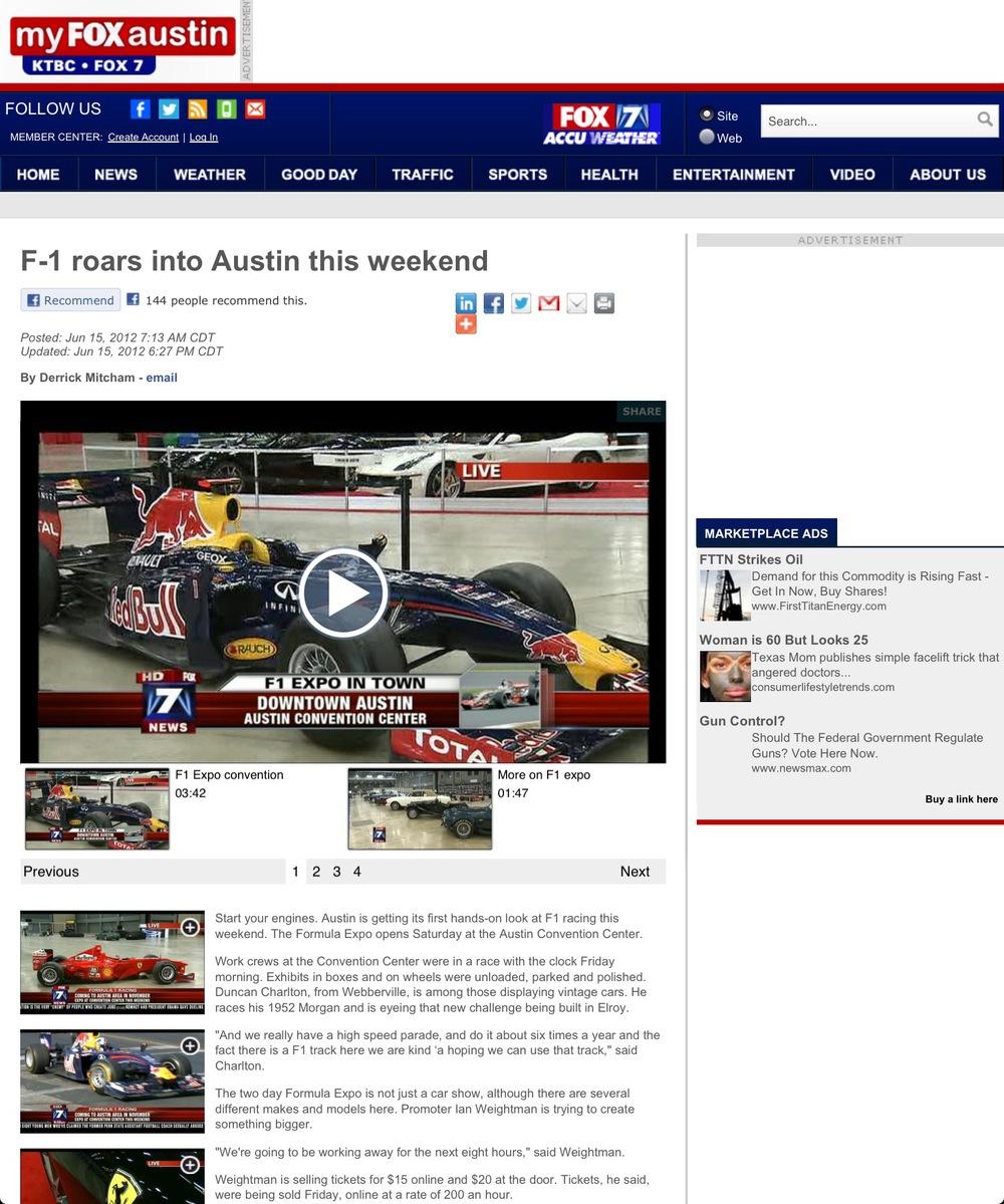 Godstone Ranch Motorsports on Fox7, June 2012