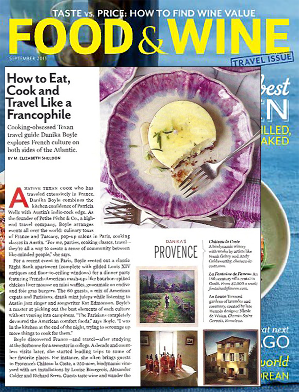 Petite Peche & Co. in Food & Wine, September 2013