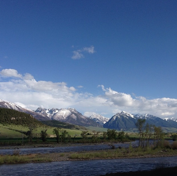The Yellowstone River near Pray, Montana.