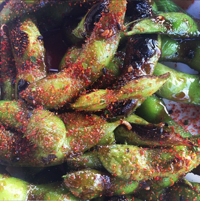 lucky robot - (pictured: spicy edamame)