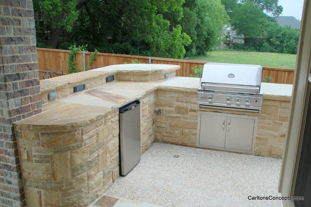 Custom Stonework Kitchen Island