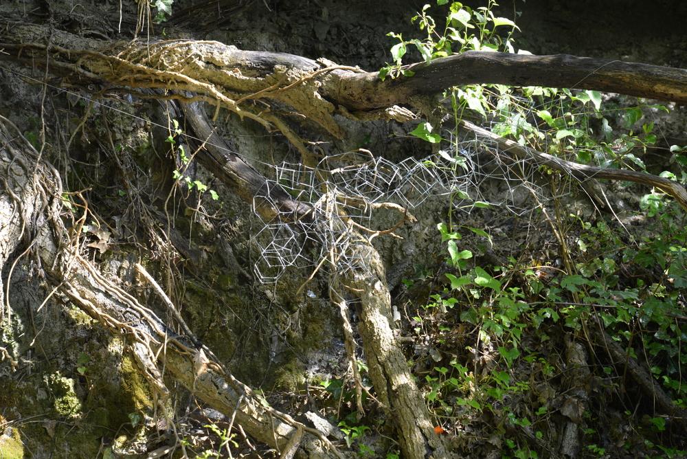 A sculptural piece installed at Ginestrelle