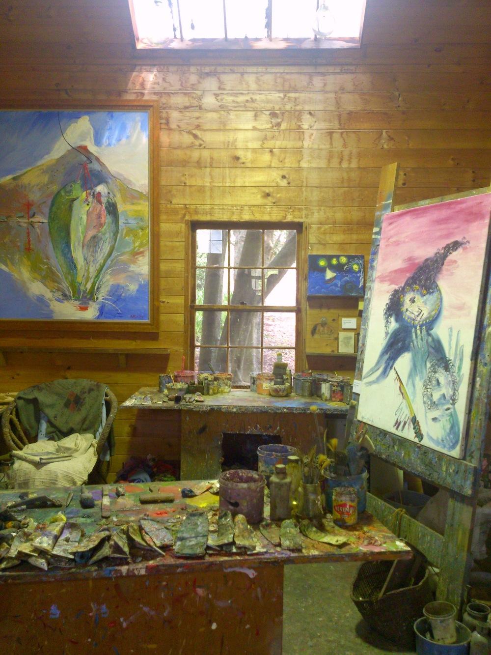 Arthur Boyd's private Studio