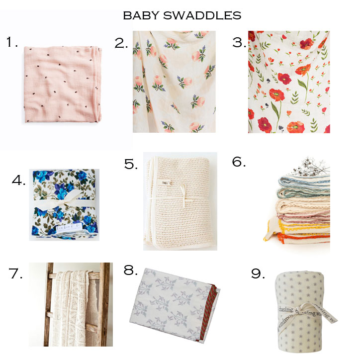 1.  BUTTERMILK BABIES   |  2&3.  LITTLE UNICORN   |  4.  LOU LOU & CO   |  5.  FOG LINEN   |  6.  WILLABY SHOP   |  7.  GATHER KIDS   |  8.  MELA & ROAM   |  9.  CHASING WINDMILLS