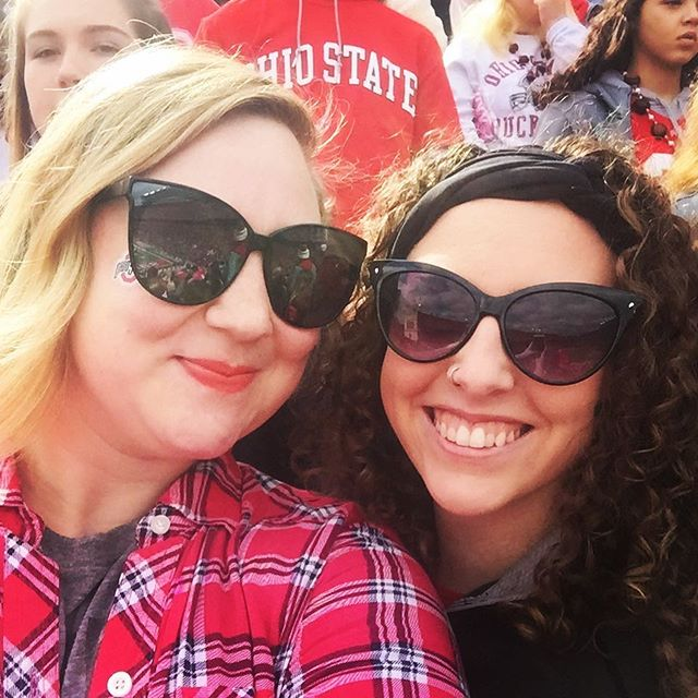 Just two social workers enjoying some football. #kel @kelseysnyder157