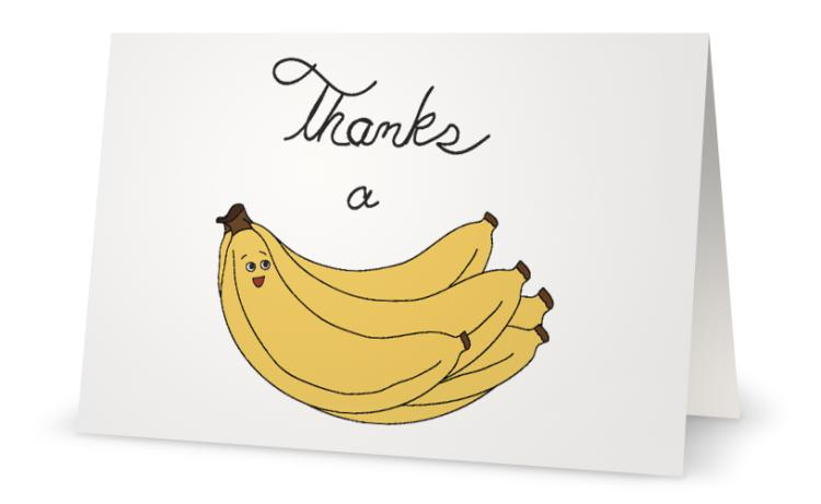 Thanks a Bunch (of Bananas) Card