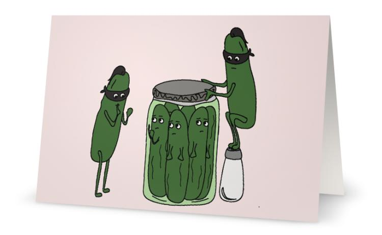 Ninja Pickles Card
