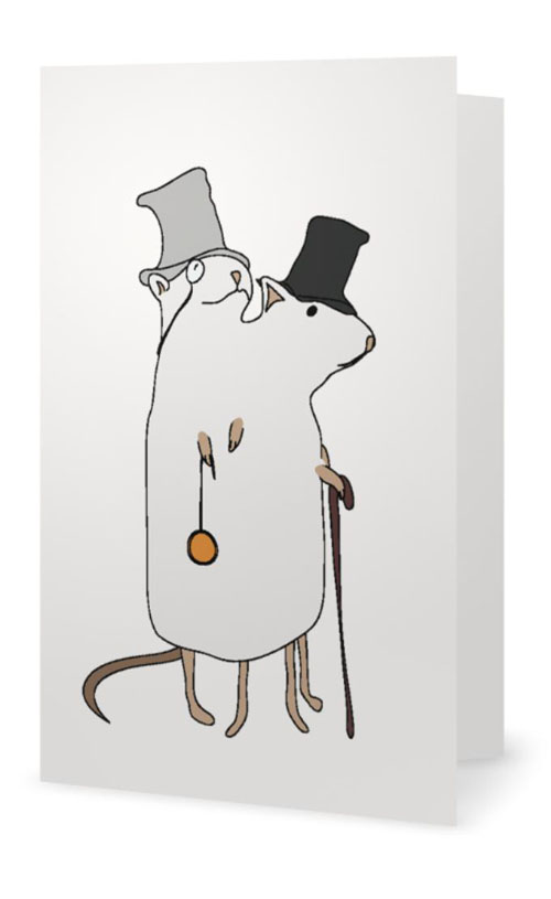 Dapper Siamese Rats Card