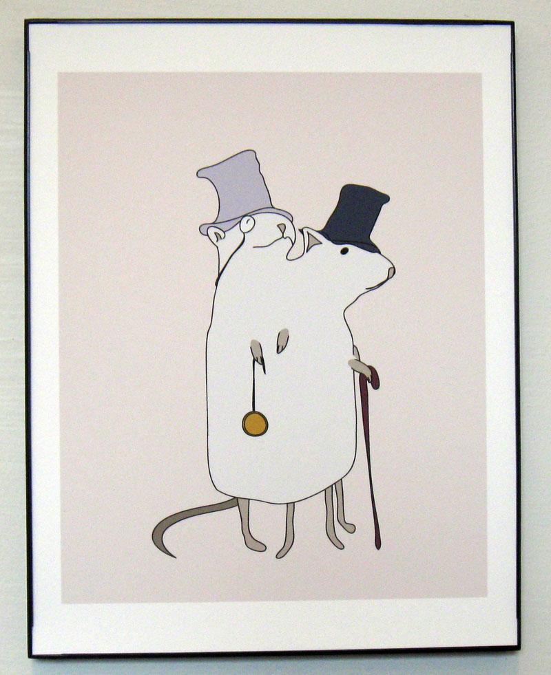 Dapper Siamese Rats Print