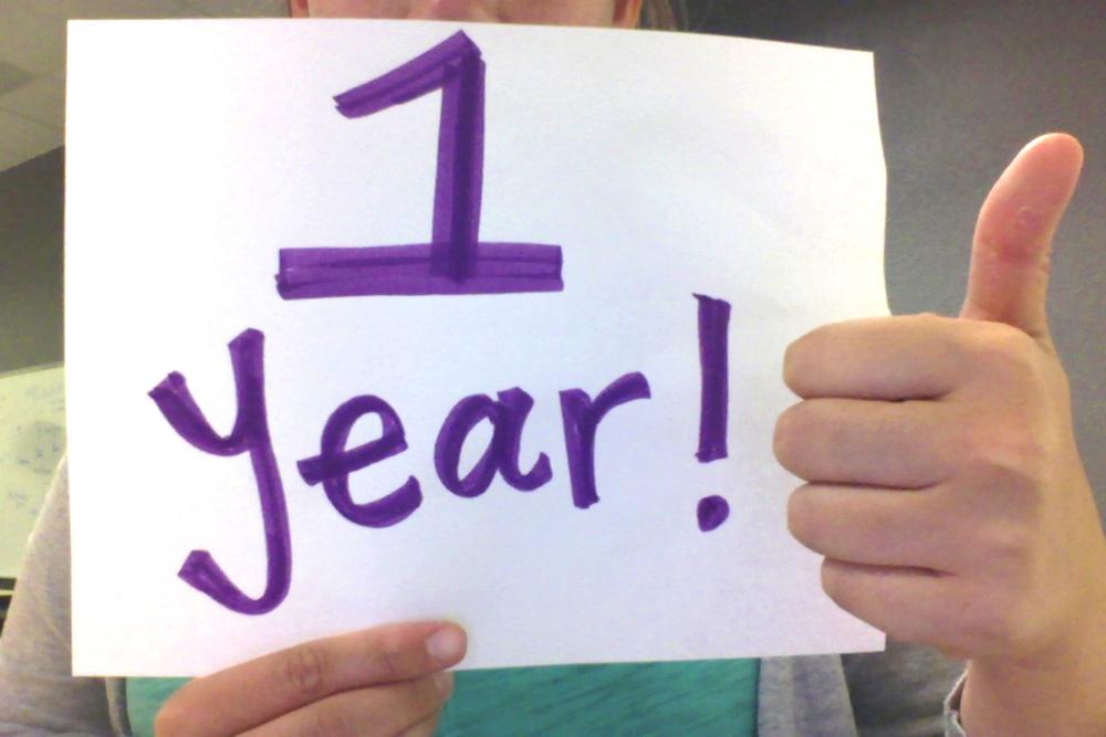 One Year Anniversary